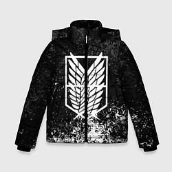 Куртка зимняя для мальчика АТАКА ТИТАНОВ цвета 3D-черный — фото 1