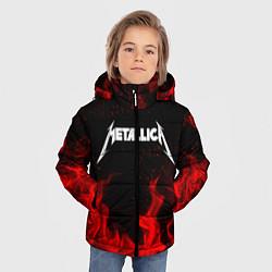 Куртка зимняя для мальчика METALLICA НА СПИНЕ цвета 3D-черный — фото 2