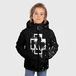 Куртка зимняя для мальчика Rammstein: White Logo цвета 3D-черный — фото 2
