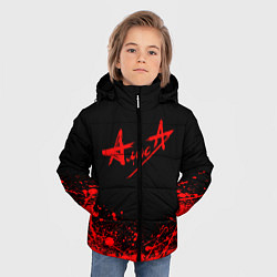 Куртка зимняя для мальчика АлисА на спине цвета 3D-черный — фото 2