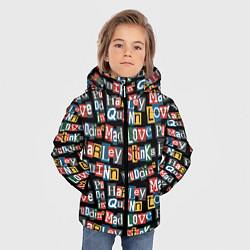 Куртка зимняя для мальчика Mad Love цвета 3D-черный — фото 2