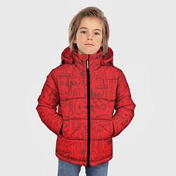 Куртка зимняя для мальчика Highlights Friends цвета 3D-черный — фото 2