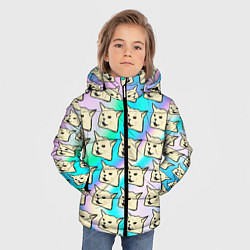 Куртка зимняя для мальчика Woman yelling at cat цвета 3D-черный — фото 2