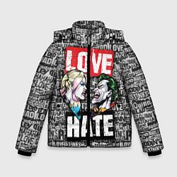 Куртка зимняя для мальчика Love Hate цвета 3D-черный — фото 1