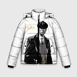 Куртка зимняя для мальчика Томас Шелби цвета 3D-черный — фото 1
