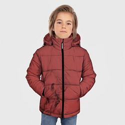 Куртка зимняя для мальчика Конь на красном фоне цвета 3D-черный — фото 2