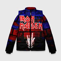 Детская зимняя куртка для мальчика с принтом Iron Maiden, цвет: 3D-черный, артикул: 10201644706063 — фото 1