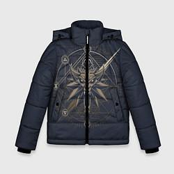 Куртка зимняя для мальчика Ведьмак 3: Дикая Охота цвета 3D-черный — фото 1