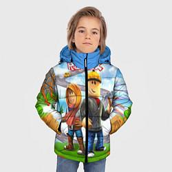 Куртка зимняя для мальчика ROBLOX цвета 3D-черный — фото 2