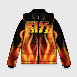 Куртка зимняя для мальчика KISS цвета 3D-черный — фото 1