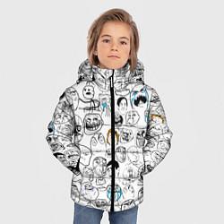 Куртка зимняя для мальчика МЕМЫ цвета 3D-черный — фото 2