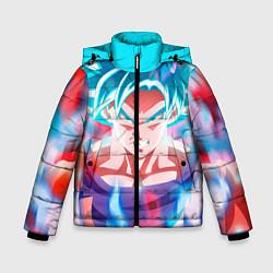 Куртка зимняя для мальчика Гоку цвета 3D-черный — фото 1