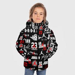 Куртка зимняя для мальчика MICHAEL JORDAN LOGOBOMBING цвета 3D-черный — фото 2