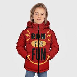 Куртка зимняя для мальчика Бег для удовольствия цвета 3D-черный — фото 2