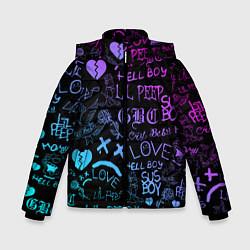 Куртка зимняя для мальчика LIL PEEP LOGOBOMBING цвета 3D-черный — фото 1