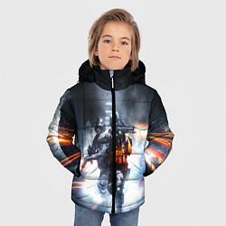 Куртка зимняя для мальчика Battlefield цвета 3D-черный — фото 2