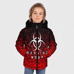 Куртка зимняя для мальчика Warning NCoV цвета 3D-черный — фото 2