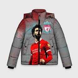 Куртка зимняя для мальчика Mohamed Salah цвета 3D-черный — фото 1