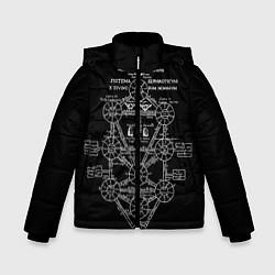 Куртка зимняя для мальчика EVa-updown цвета 3D-черный — фото 1