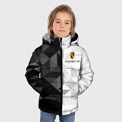 Куртка зимняя для мальчика PORSCHE цвета 3D-черный — фото 2