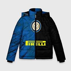 Детская зимняя куртка для мальчика с принтом Интер, цвет: 3D-черный, артикул: 10209022506063 — фото 1