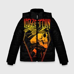 Куртка зимняя для мальчика Led Zeppelin цвета 3D-черный — фото 1
