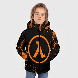 Куртка зимняя для мальчика HALF-LIFE цвета 3D-черный — фото 2