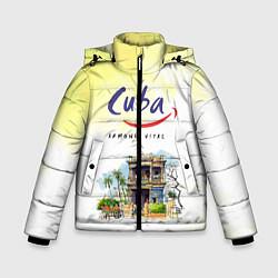 Куртка зимняя для мальчика Куба цвета 3D-черный — фото 1