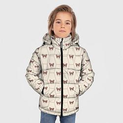 Куртка зимняя для мальчика Westworld Logo Pattern цвета 3D-черный — фото 2