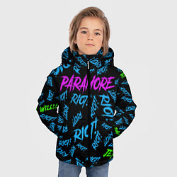 Куртка зимняя для мальчика Paramore RIOT! цвета 3D-черный — фото 2