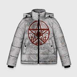 Куртка зимняя для мальчика Supernatural цвета 3D-черный — фото 1
