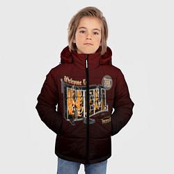 Куртка зимняя для мальчика Welcome To Hell цвета 3D-черный — фото 2