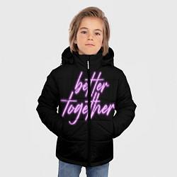 Куртка зимняя для мальчика Вместе лучше цвета 3D-черный — фото 2