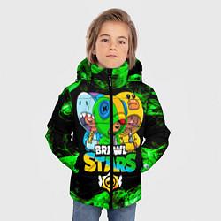 Куртка зимняя для мальчика Brawl Stars Leon Trio цвета 3D-черный — фото 2