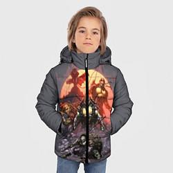 Куртка зимняя для мальчика Черепашки на восходе цвета 3D-черный — фото 2