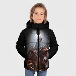 Куртка зимняя для мальчика BERSERK цвета 3D-черный — фото 2