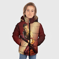 Куртка зимняя для мальчика Wally West цвета 3D-черный — фото 2