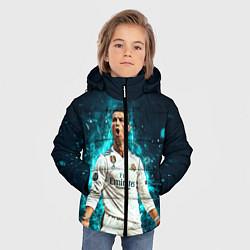 Куртка зимняя для мальчика Роналдо цвета 3D-черный — фото 2