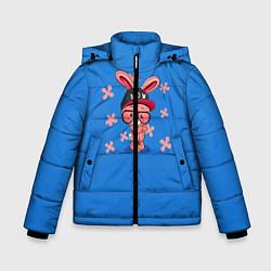 Детская зимняя куртка для мальчика с принтом Милый Заяц, цвет: 3D-черный, артикул: 10230917506063 — фото 1