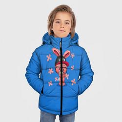 Куртка зимняя для мальчика Милый Заяц цвета 3D-черный — фото 2