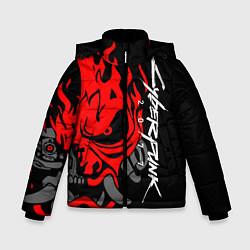 Куртка зимняя для мальчика CYBERPUNK 2077 SAMURAI цвета 3D-черный — фото 1