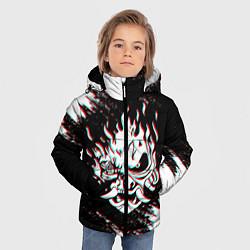 Детская зимняя куртка для мальчика с принтом CYBERPUNK 2077 SAMURAI GLITCH, цвет: 3D-черный, артикул: 10237615306063 — фото 2