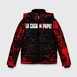 Куртка зимняя для мальчика La Casa de Papel спина Z цвета 3D-черный — фото 1