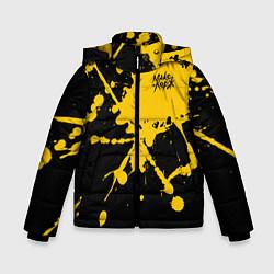 Куртка зимняя для мальчика МАКС КОРЖ цвета 3D-черный — фото 1