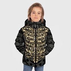 Куртка зимняя для мальчика Стимпанк Скелет цвета 3D-черный — фото 2