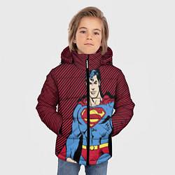 Куртка зимняя для мальчика I am your Superman цвета 3D-черный — фото 2