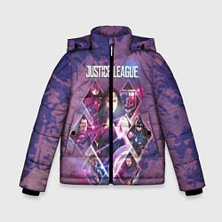 Куртка зимняя для мальчика Justice League цвета 3D-черный — фото 1