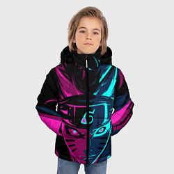 Куртка зимняя для мальчика Неоновый НАРУТО цвета 3D-черный — фото 2