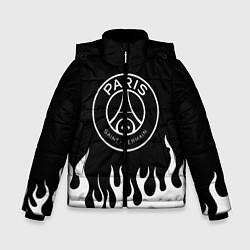 Куртка зимняя для мальчика PSG FIRE цвета 3D-черный — фото 1