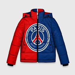 Куртка зимняя для мальчика ФК ПСЖ цвета 3D-черный — фото 1